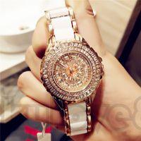 Le signore calde di modo di vendita calda del braccialetto guardano l'orologio impermeabile di modo del movimento al quarzo giapponese del diamante ceco di ceramica di alta qualità
