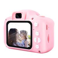2019 Sıcak Noel Çocuklar için Kamera Çocuklar Mini Dijital Kamera Doğum Hediye 2 İnç Ekran için Sevimli Karikatür Kamera 13 MP 8MP SLR fotoğraf makinesi Oyuncak