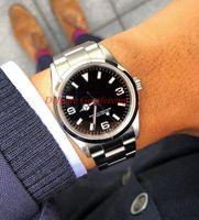 Son Erkekler Kol Saati Perpetual Watch Explorer 114270 214270 36mm 39mm Siyah Arama Paslanmaz Çelik Asya 2813 Hareketi Otomatik erkek Saatler