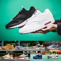 87 Mars Yard Yıldönümü 1 OG Koşu ayakkabıları Obsidyen Albert Heijn Ne sneaker trainer Siyah Leopar spor ayakkabı boyutu 36-45 ile kutusu
