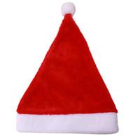أطفال والكبار عيد الميلاد الأحمر قبعات سانتا الجدة هات لحفلة عيد الميلاد ذات نوعية جيدة غطاء رخيصة لقضاء العطلات
