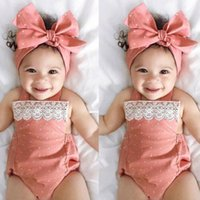 Toddler Baby Girls Romper Jumpsuit Playsuit Infant Headband ...