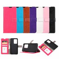 Leder-Mappen-Kasten für Samsung-Galaxie S20 Plus-S20 Ultra-Crazy Horse Karten-ID Slot Taschen-Halter-Standplatz-Mode-Handy-Geldbeutel-Beutel