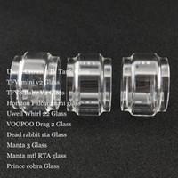 Fat Replacement Bulb Glass Tube for Crown 4 Whirl 22 TFV-mini v2 TFV8 Baby V2 Falcon mini Drag 2 Manta 3 MTL RTA Prince Cobra