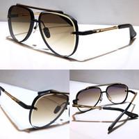 Óculos de sol para homens e mulheres estilo verão m oito anti-ultravioleta placa retro oval quadro cheio moda óculos aleatório caixa
