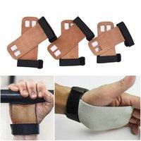 1 par Grips protectores de palma crossfit gimnasia mano de agarre del protector guante Tire Brown Guantes de goma Barra de elevación agarre Peso