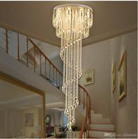 Raindrop Raindrop الحديثة واضحة كريستال الثريا الإضاءة دوامة درج الثريات ل فندق فيلا قاعة دوبلكس فيلا درج الفولاذ المقاوم للصدأ الإضاءة