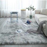 120 * 200 cm Alfombra lazo teñido felpa suave de habitaciones alfombras para estar Dormitorio antideslizante tapetes dormitorio de absorción de agua de alfombras Alfombras
