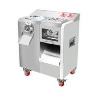 Büyük mutfak et kesici makinesi Dilimleme çok fonksiyonlu et kesme makinesi otomatik çıkarılabilir bıçak grubu kıyma makinesi