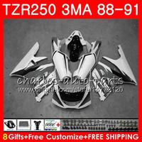 Nouveau stock gris Corps Pour YAMAHA TZR250 3MA TZR 250 RS RR YPVS TZR250RR 118HM.110 TZR-250 88 89 90 91 TZR250 1988 1989 1990 1991 Kit de carénage