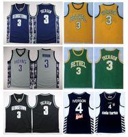 NCAA Georgetown Hoyas Allen Maillot du Collège Allen Iverson 4 Allen Iverson Collection de la Turquie Cola Turka Turque Bethel Irish High School Basketball