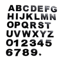 3D-Metall-Emblem-Auto-Aufkleber-Buchstabe Digital-Zahl-Chrom DIY Auto-Abzeichen-Logo Dekoration H2.5cm Automobil-Motorräder Aufkleber