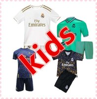 19 20 camiseta real madrid kids barcelona liverpool Niño camiseta de fútbol de kits 2019 2020 fc Barcelona Real Madrid hazard messi kids soccer jersey camisetas de fútbol