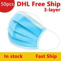 DHL-freies Verschiffen-Einweg-Maske 3-Layer-Gesichtsmaske Schutz und persönliche Gesundheitsmaske mit Holousinen-Mundgesichts-Sanitärmasken