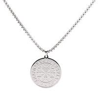 XSS83018 annata di modo vichingo gioielli in acciaio inossidabile Talisman retro collana religiosa Rune del fiocco di neve del modello all'ingrosso Collana