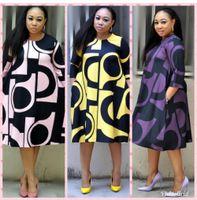 Super Размер Новый Стиль Африканские Женские Одежда Дашики Мода Печать Ткань Платье Размер L XL XXL 3XL