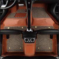 스바루 로고 맞춤형 카 바닥 매트 Impreza Forester Legacy Outback Tribeca XV BRZ 3D 모든 기상 카펫 바닥재