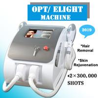 IPL SHR laser epilazione laser utilizzato laser macchina depilazione permanente ipl elight photofacial con 2 maniglie