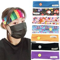 Face Mask Holder Headbands with Button New Arrival Yoga Hair...