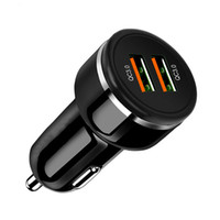 USB Car Charger Quick Charge 3.0 Mobile Phone Charger 2 Port USB rápido para iPhone 8 X XS Samsung Tablet Carro-Carregador quente