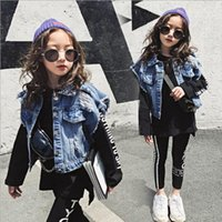 Vieeoease Big Girls Sets Kinder Kleidung 2019 Herbst Street Style Sweater + Denim Weste + Letter Legging Kinder Outfits 3 Stück CC-523
