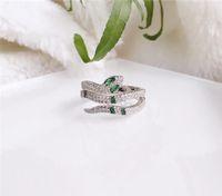 925 anneaux en argent sterling SNAKE Bagues Bijoux diamant pour les femmes de cadeau de mariage Livraison gratuite
