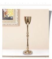 الذهب نمط جديد الديكور زفاف بالجملة ريشة النعام الأبيض للديكور الزفاف المركزية best0888