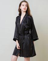 Pigiama Home Abbigliamento 2020 nuova Lady seta da notte camicia da notte simulato Donne di età media di lungo manica Mattina abito di seta del ghiaccio Bagno abito della donna
