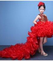Twee stuk meisje Pageant jurken kinderen prestaties jurk prinses prom rok bloem meisje jurken partij schoonheid bal avondjurk