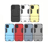 حامل حالات الهاتف بارد لآيفون 11 برو البلاستيك الصلب دائم السيليكون الهجين المسنده شل iPhone11 promax xs 7 زائد غطاء الهاتف المحمول