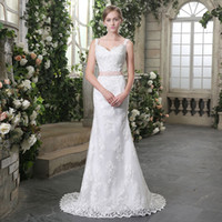 Brautkleider 2019 Classic Zipper mit Tüll Sweep Sash ärmellose Brautkleider Mermaid Wedding Dress 3929