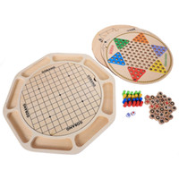16 Tipos De Jogos Multifuncionais Damas Chineses Flying Animal Checker Snake Lucky26 Crianças Xadrez De Madeira Brinquedos de Puzzle