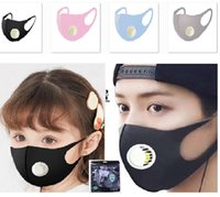 Ice Silk Adult And Kids Dustproof Face Mask Breathing Valve ...