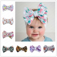 Baby Girls Floral Tie- dyed Headband Kids Big Bow Hair Band B...
