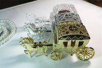 Boîtes de bonbons Transparent boîte cadeau d'Or Argent Forme transport doux chocolat Boîte de fête de mariage Fournitures
