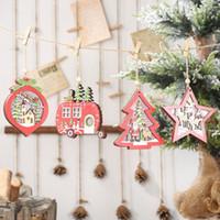 Arbre de Noël Décorations de Noël en bois creux Pendentif Creative avec des lumières d'arbre de voiture Décorations de Noël Cadeau Guirlande lumineuse LXL637Q