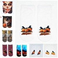 Hallonween Socken Kürbis Sonderbare Socken lustige 3D Digital Print Chaussette Unisex Karikatur beiläufige Strumpfwaren Art und Weise Baumwolle Fußkette 20 Styles CZYQ6132