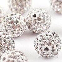 رخيص! شحن مجاني 150 قطعة / الوحدة الأبيض 10 ملليمتر مايكرو تمهيد تشيكوسلوفاكيا ديسكو الكرة كريستال bead.Best حبة لسوار.