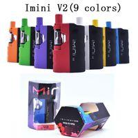 Kit di sigaretta E-sigaretta originale IMINI V2 650mAh VAPE MOD VV BATTERY ECIGS 0.5ML 1.0ml 510 filettatura I1 Cartuccia VAPorizer Vaporizzatore VAPES Pen Kit 9 colori
