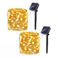 7m 12m 22m solare Lampade Luci della stringa del LED LED 100/200 Outdoor Fata partito di festa di Natale Ghirlande solare del prato giardino impermeabile
