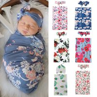 2pcs macio infantil Meninas Meninos gavetas Muslin Blanket bebê recém-nascido Flores Imprimir Enrole Swaddling Blanket Set