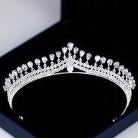Sparkly Bling Bling Hochzeit Braut Tiara Strass Kopfstücke Kristall Braut Stirnbänder Haarschmuck Abend Brautkleider