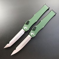 "Auto MicroT Automatic Messer Hal VI (4,6 ""Satin) Single Action Messer Taktisches Messer EDC Survival Getaschen-Taschenmesser Halo V"