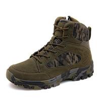 Tático Militar Combate Botas Homens Suede Sapatos de couro Exército Hunting Trekking Camping Montanhismo Primavera trabalho Outono 38-46
