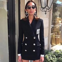 celebrity autumn winter blazer American French double breast...