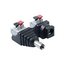 ZDM 1Pairs Conexión Inteligente DC Power Male Female 5.5x2.1mm Conector Adaptador Enchufe Cable Presionado para Tiras de LED 12V