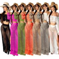 progettista donne all'ingrosso beachwear how Tagliate due pezzi tute modo del vestito sexy abito senza spalline confortevole cover-up le donne abbigliamento 0897
