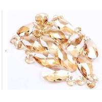 Frete grátis 20 pçs / lote 50mm cristal facetado gotas octógono cordão diy pingentes para peças de candelabro, casamento / decoração de festa