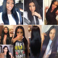 360 Full Lace Frontal Human Hair Wigs Brazilian Straight Hai...