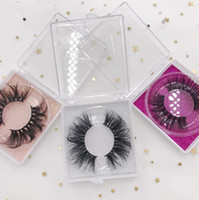 3D Mink Wimpern 25 mm Lange Dramatic mit Square Box Clear Case Lashes Glitzer-Karten FDshine